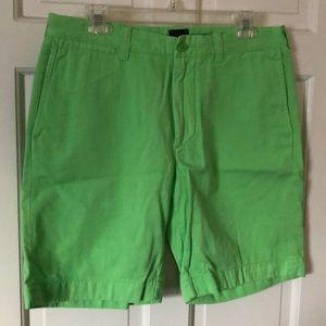 J. Crew Stanton shorts in bright green